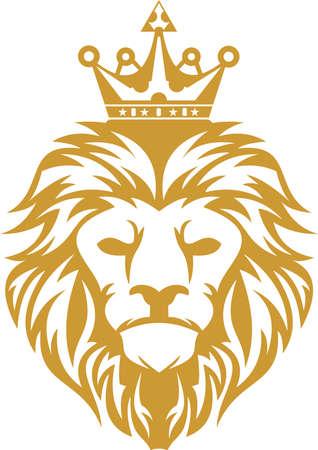 Ilustración de logo lion king - Imagen libre de derechos