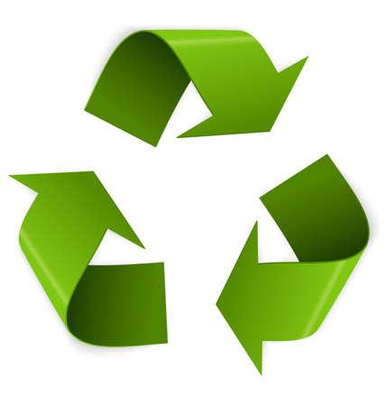 Ilustración de Vector illustration of 3d recycling symbol isolated on white   - Imagen libre de derechos