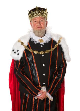 Foto de Isolated medieval king standing for an official portrait - Imagen libre de derechos