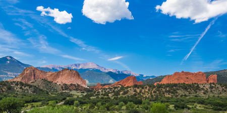 Foto de Garden of the Gods Park in Colorado Springs - Imagen libre de derechos
