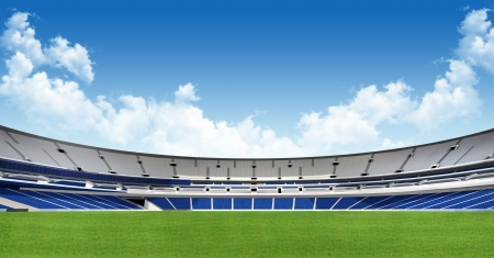 Sports background - green stadium