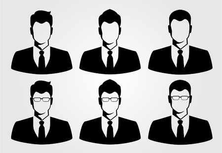 Illustration for silhouette business man - Royalty Free Image