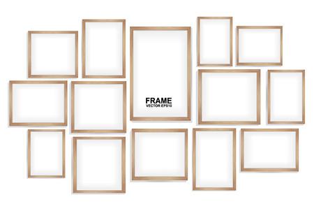 Illustration pour wood frames - image libre de droit
