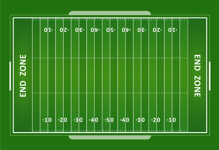 Illustration pour A vector grass textured American football field. EPS 10. - image libre de droit