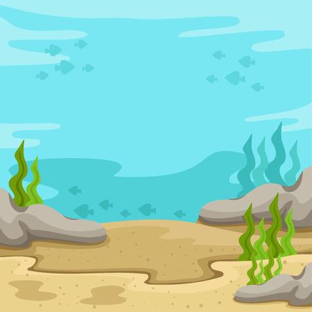 Illustration pour Illustrator of background underwater on the sea - image libre de droit