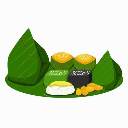 Ilustración de Illustration of Thai desserts. - Imagen libre de derechos