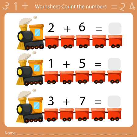 Ilustración de Illustrator of Worksheet Count the Number sheet four - Imagen libre de derechos