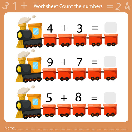 Ilustración de Illustrator of Worksheet Count the Number - Imagen libre de derechos