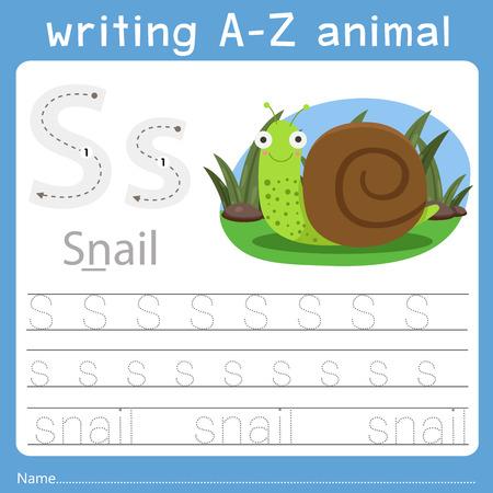 Ilustración de Illustrator of writing a-z animal s - Imagen libre de derechos