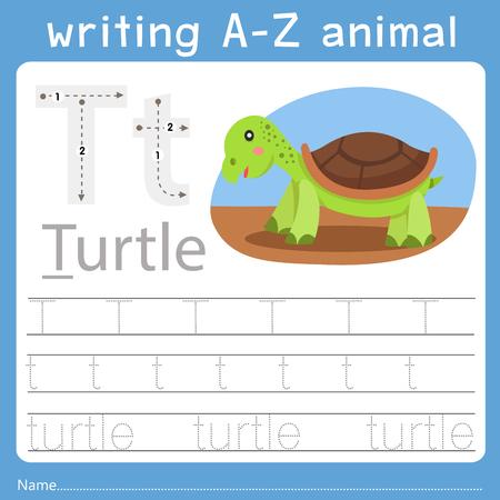 Ilustración de Illustrator of writing a-z animal t - Imagen libre de derechos