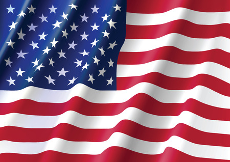 Illustration for Waving Flag of United States of America - Royalty Free Image