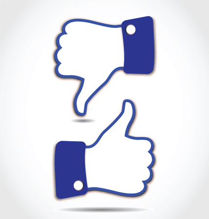 Illustrazione per Like and Unlike, Thumps up and Thumps down - Immagini Royalty Free