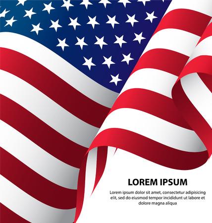 Illustration pour The USA Waving Flag Background, Clipping Mask - image libre de droit