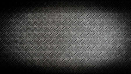 Photo pour texture background of grungry old weathered  metal diamond plate with scratch and dirty in dark tone - image libre de droit