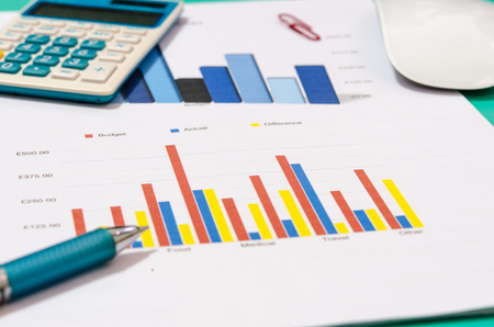 Foto de Business accounting finance on desk - Imagen libre de derechos