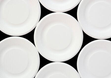 white disposable plate background
