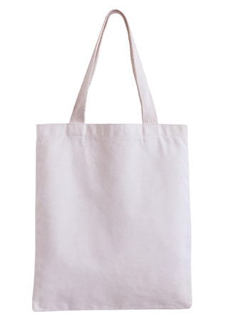 Foto de white fabric bag isolated on white background with clipping path - Imagen libre de derechos