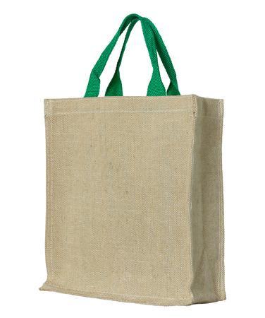 Foto de eco fabric bag isolated on white with clipping path - Imagen libre de derechos