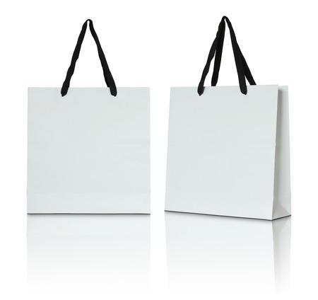 Foto de white paper bag on white background - Imagen libre de derechos