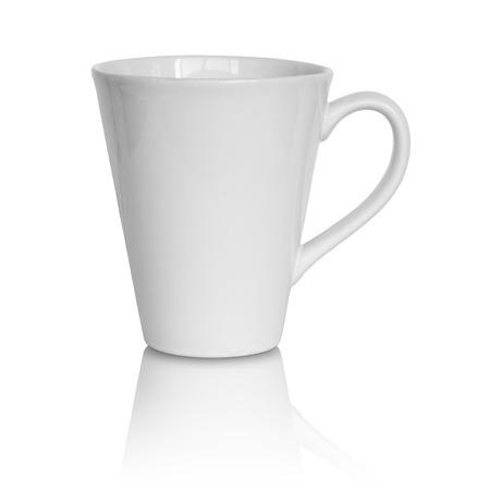 Foto für empty white cup isolated on white background - Lizenzfreies Bild