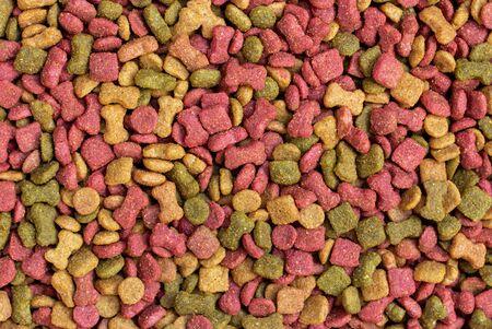 Foto de detail of dry dog food background - Imagen libre de derechos