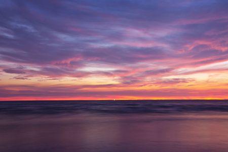 Photo for Sunrise at Chao Lao Beach Chantaburi Thailand. - Royalty Free Image