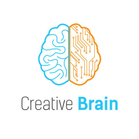 Illustration pour Brain vector logo design template - image libre de droit