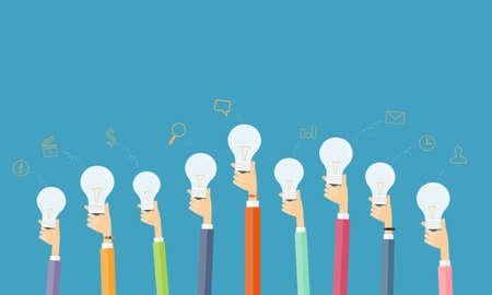 Illustration pour people creative and brainstorm idea for business - image libre de droit