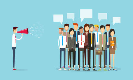 Ilustración de group people business and marketing communication background - Imagen libre de derechos