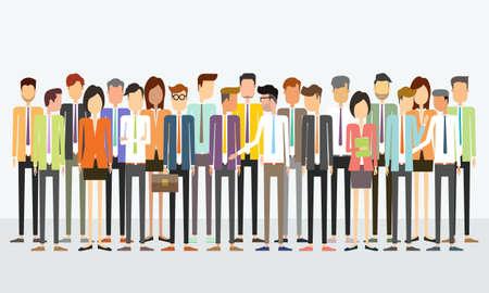 Illustration pour group people business team concept - image libre de droit