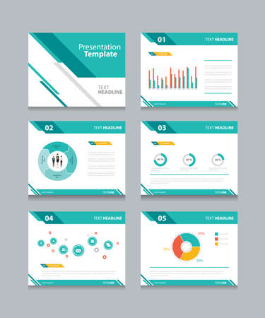 Ilustración de business presentation template set.  - Imagen libre de derechos