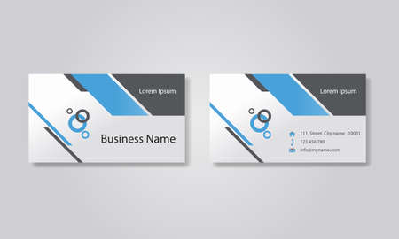 Photo pour business card template design backgrounds .  - image libre de droit