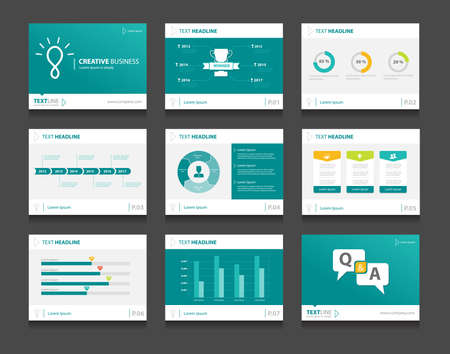 Illustration pour infographic business presentation template set.powerpoint template design backgrounds - image libre de droit