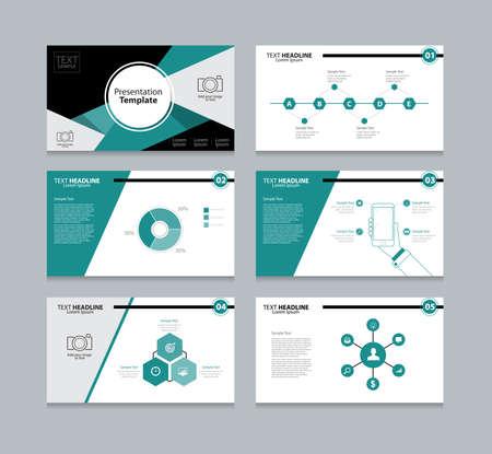 Illustration pour Vector template presentation slides background design - image libre de droit