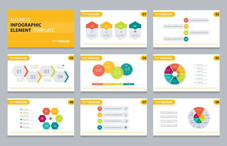Illustration pour business info graphic presentation element template - image libre de droit