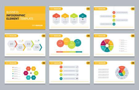 Ilustración de business info graphic presentation element template - Imagen libre de derechos