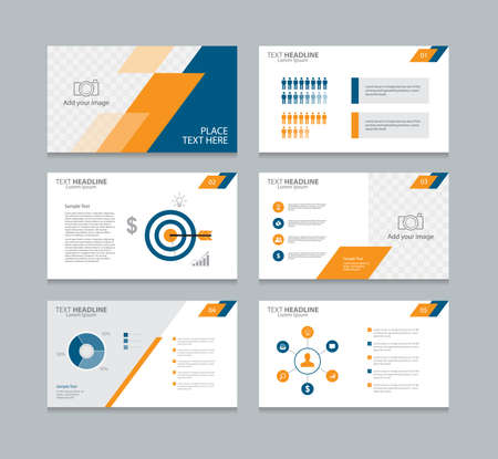 Ilustración de page layout design template for presentation and  brochure ,Annual report,  flyer and book  .with infographic elements design - Imagen libre de derechos