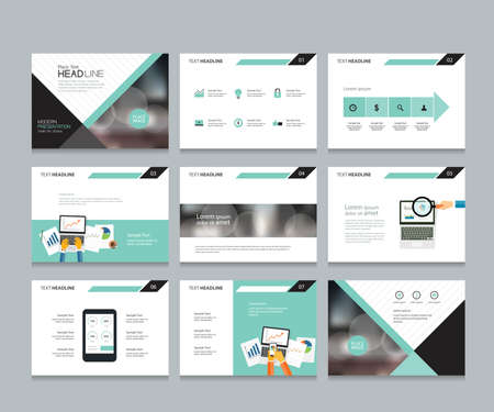 Ilustración de business presentation template design and page layout design for brochure ,book , magazine,annual report and company profile , with infographic elements graph - Imagen libre de derechos