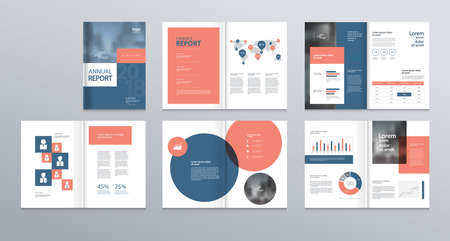 Illustration pour template layout design with cover page for company profile ,annual report , brochures, flyers, presentations, leaflet, magazine,book . and vector a4 size for editable. - image libre de droit