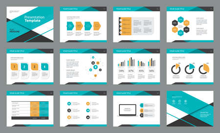 Ilustración de Business presentation page layout template design with info graphic element for,brochure and report concept - Imagen libre de derechos