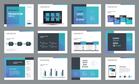 Illustration pour template presentation design and page layout design for brochure ,book , magazine,annual report and company profile , with infographic elements  design - image libre de droit