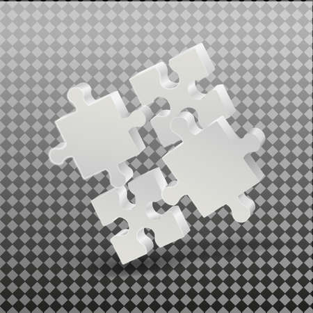 Illustration pour 3D puzzle business presentation. On a transparent background. Business presentation. Vector. - image libre de droit