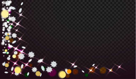 Illustration pour Snowflakes on a transparent background. Abstracts are now on Christmas design. Place for your text or photo. Vector illustration - image libre de droit