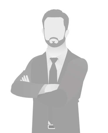 Illustrazione per Default placeholder businessman half-length portrait photo avatar. - Immagini Royalty Free