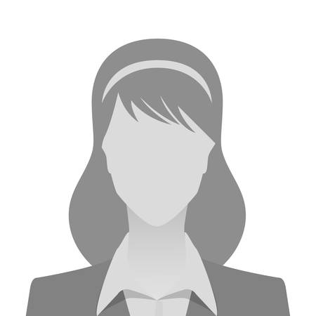 Illustration pour Person gray photo placeholder woman in costume on white background - image libre de droit