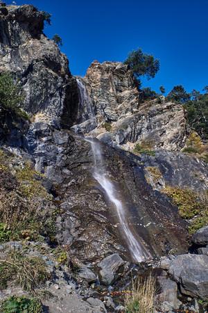 Foto de Baritovy Waterfall, Karachay-Cherkessia, Russia. Located near the village of Arkhyz. - Imagen libre de derechos