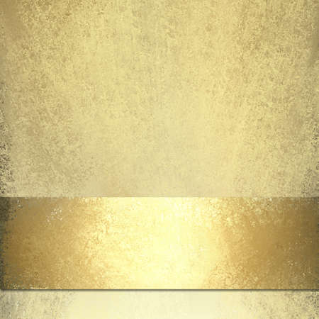 pale gold background with shiny gold ribbon