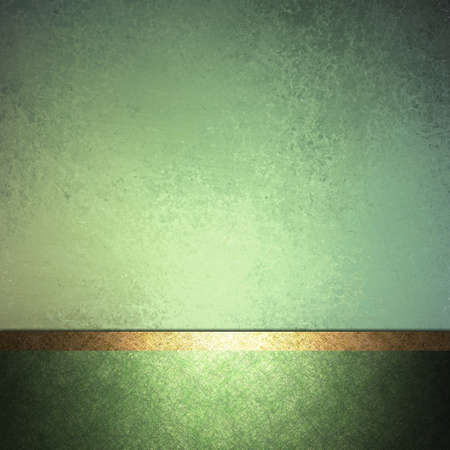 abstract green background design layout with vintage grunge background texture lighting, pale pastel colors on dark green border frame and accent ribbon in gold, elegant formal background book cover