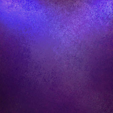 purple blue background with abstract vintage grunge background texture design and soft corner lighting with dark black vignette shadows on border of frame with copy space highlight, purple blue paper