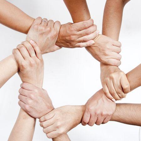 Photo pour Hands joined together - image libre de droit